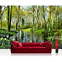 Non-woven Photographic Wallpaper 350x245cm–Top Quality Premium Plus Photo Wallpaper Wall Picture XXL Decorative Wall Picture Wall Mural Photo Wallpaper Forest Trees Nature No. 256 preiswert