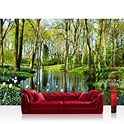 Non-woven Photographic Wallpaper 350x245 cm – Top Quality Premium Plus Photo Wallpaper Wall Picture XXL Decorative Wall Picture Wall Mural Photo Wallpaper Forest Trees Nature No. 256
