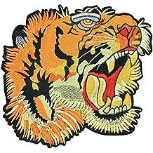 hibote El tigre animal bordó la ropa remienda los 19 * 18.5cm