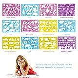 BESTOYARD 12 Stücke Kinder Zeichenschablonen