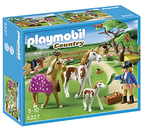 Playmobil 5227 Country Pony Farm Paddock with Horses and Pony