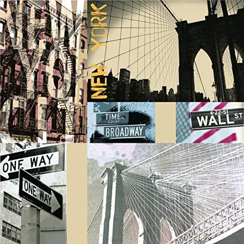 20 Servietten Leben in New York als Tischdeko zum Thema USA, sowie Städte und Länder 33x33cm