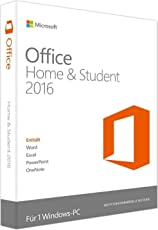 Microsoft Office Home & Student 2016 Vollversion für Windows - 1PC (Blitzversand) E-Mail