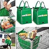 Best Compras reutilizables - Portátil Shopping funda, 2unidades) Bolsa de la compra Review