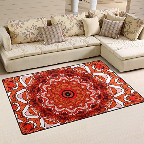 coosun Creative Commons Mandala área alfombra alfombra alfombra de suelo antideslizante Doormats para salón o dormitorio, 31x 20cm, tela, multicolor, 31 x 20 inch
