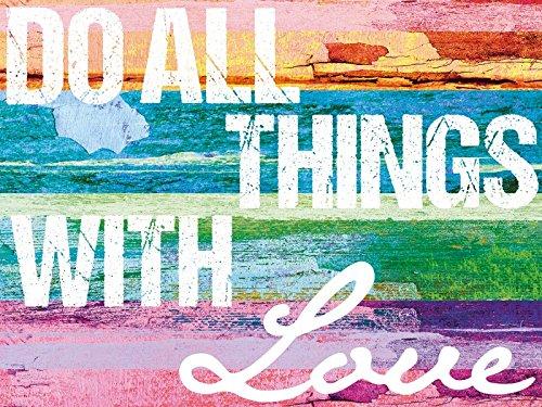 Artland Poster oder Leinwand-Bild gespannt auf Keilrahmen mit Motiv Jule Tu alles mit Liebe Statement Bilder Sprüche & Texte Digitale Kunst Bunt D8SU