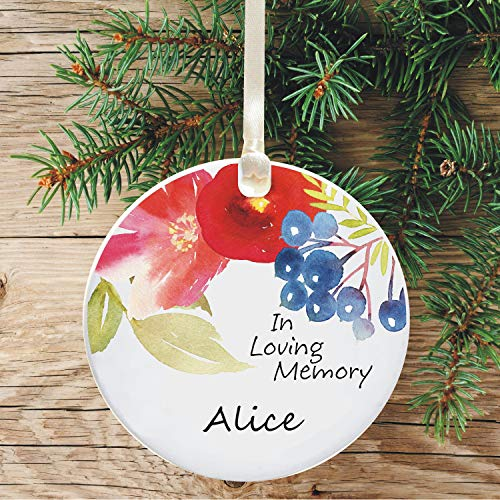 Tiukiu Remembrence Christmas Tree Decoration In Loving Memory Personalised Remembrance Holiday Ornament Memorial Keepsake