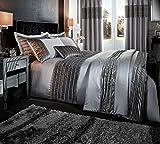 Die besten King-Size-Betten - Catherine Lansfield Bettbezug-Set für King-Size-Betten mit gerippten Samtbändern Bewertungen