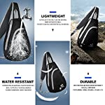 WATERFLY Sling Shoulder Backpacks Bags Crossbody Rope Triangle Pack Rucksack for Hiking or Multipurpose Daypacks and School Handbag for Man Women Girl, Black - hiking-backpacks