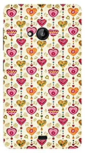 TrilMil Printed Designer Mobile Case Back Cover For Nokia Microsoft Lumia 535