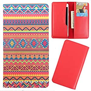 DooDa - For Karbonn Titanium S11 PU Leather Designer Fashionable Fancy Case Cover Pouch With Card & Cash Slots & Smooth Inner Velvet