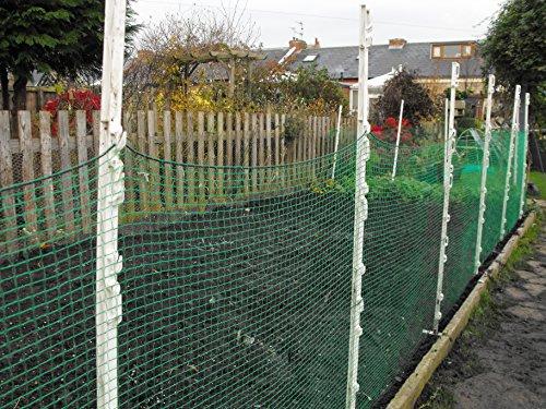 Easynets Cloche de clôture en maille filet 20 mm 1m x 50m vert