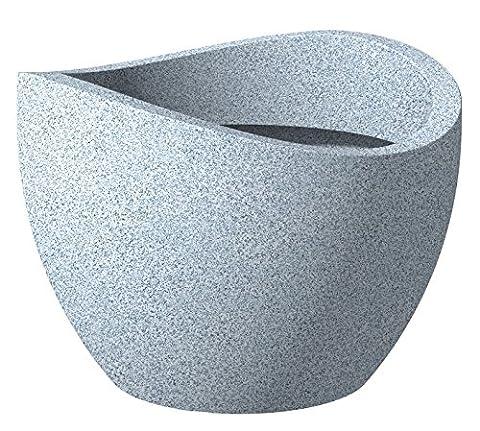 Scheurich Wave Globe Pflanzgefäß Weiß-Granit Ø 30 cm, H 22