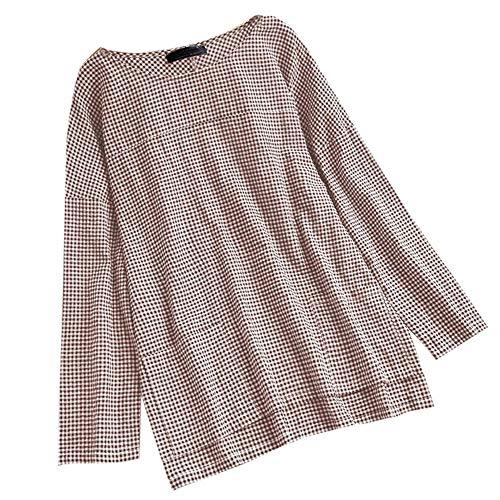 VEMOW Herbst Frühling Sommer Elegante Damen Frauen Stehkragen Langarm Casual Täglichen Party Strand Urlaub Lose Tunika Tops T-Shirt Bluse(X4-Türkis, EU-52/CN-5XL) -