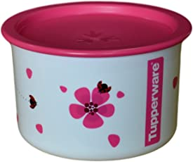 Tupperware One Touch Plastic Canister 650 ml, Pink