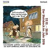 Steinbock Mini 2018: Sternzeichenkalender-Cartoon - Minikalender im praktischen quadratischen Format 10 x 10 cm.