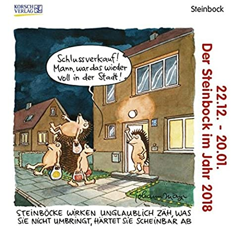 Steinbock Mini 2018: Sternzeichen-Cartoonkalender