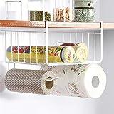 LWVAX? Multifunctional Storage Basket Kitchen Storage Rack Under Cabinet Storage Shelf Basket Wire Rack Organizer Storage (Wh