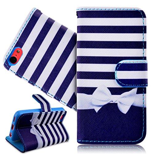 SMARTLEGEND Cover per iPhone 5C Fashion Design PU Pelle Shock