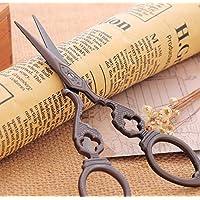 Fengh creativo estilo vintage bordado Tijeras para DIY artesanía coser (bronce)
