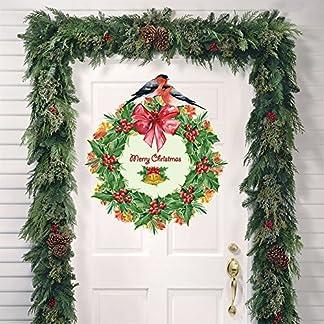 Navidad Guirnalda de Aves decoración de Navidad para el hogar Fiesta año Nuevo Suministros Vinilo Pared Pegatina Home Decor Mural calcomanía Arte