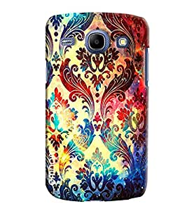 Omnam Printed Leaf Design Pattern Printed Designer Back Cover Case For Samsung Galaxy Core i8262