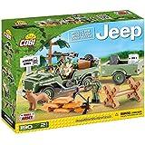 COBI - Jeep Willys MB & 1/4 Ton Cargo Trailer, set con vehículo, color verde (24192)