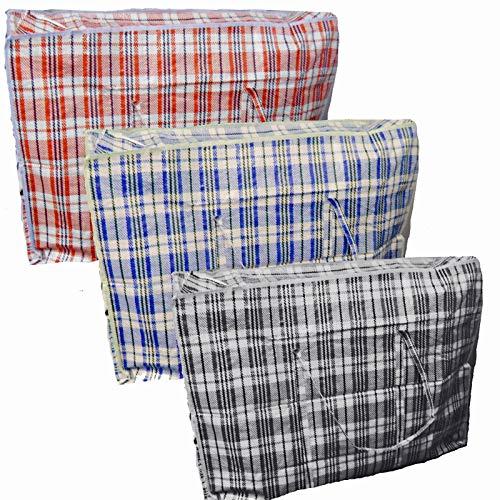 10 grands sacs zippés réutilisables à linge Shopping/Sac de Rangement solide fermeture éclair par grilles Londres