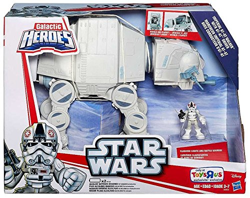 Star Wars, Galactic Heroes, Exclusive Imperial AT-AT Walker with AT-AT Driver Action...