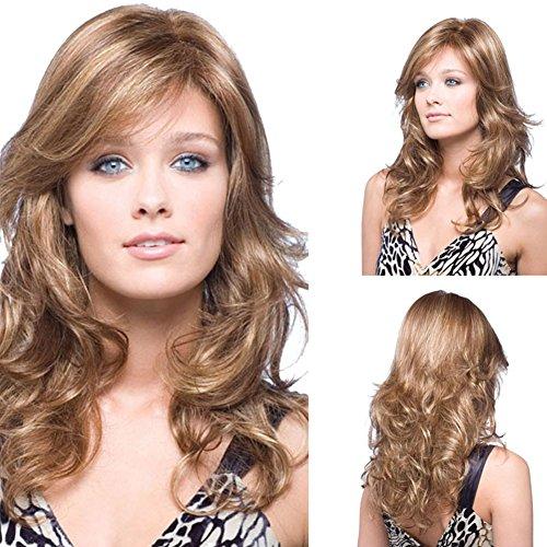 Longue perruque de dames moelleux Peut être teint avec des cheveux naturels