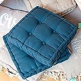 Atmosphera Coussin de Sol Bleu Canard 40x40x8cm