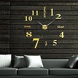 HONGYUANZHANG Wanduhr Wanduhr Dekorative Wanduhr 12 Digitale Wanduhr Acryl Clock (70-120Cm) D Gold