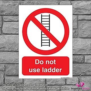 2x nicht verwenden Leiter?Gesundheit & Sicherheit Warnung Verbot Schild Aufkleber