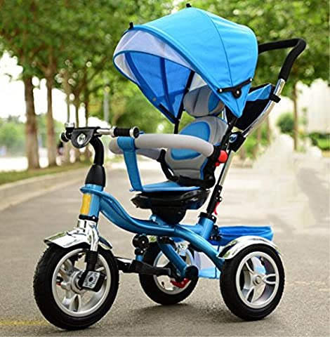 Baby Trolley Child Tricycle Bicycle Toy Car 1-6 ans Vélo portable pliable , 1