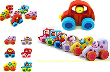 Vibgyor Vibes Small Push and Go Wooden Cars (Pack of 2)