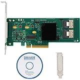 PCIe SATA kaart, 8-poorts PCIe SAS/SATA controllerkaart 6 Gbit/s voor SAS 9211-8i 2008E SATA3 4T harde schijf, LSI 2008-8I-ch
