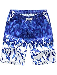 hellomiko Mens Beach Shorts Swim Trunks Secado rápido Beach Surf Running Pantalones de agua corriente con bolsillos