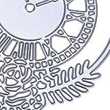 Qinpin Merry Christmas Metallstanzschablonen für Kartenherstellung, Scrapbooking, Album, Prägung, DIY Handwerk, Karbonstahl, C, Einheitsgröße