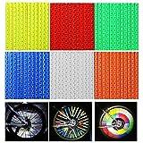 Riflettori a Raggi - WENTS Clip Riflettore a Raggi Ruota Riflettori a Raggi per la Bicicletta Clip Catarifrangenti Realizzato in Materiale ABS,72Pcs 6 Colori