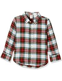 GAP Baby Boys' Checkered Regular Fit Cotton Shirt