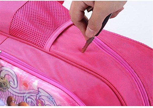 Moolecole Mädchen Schule Tasche Welpen Daypack Rucksack Cartoon Rosa Rucksack Schultertaschen Buchbags dog1