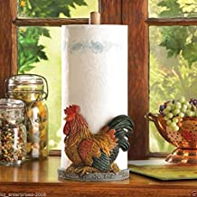 (Ship from USA) Country Rooster Paper Towel Holder Kitchen Decor Counter Top Stand Rack /ITEM NO#8Y-IFW81854185880