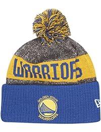 Bonnet à Pompon NBA Team Colour Knit Golden State Warriors gris-bleu NEW ERA