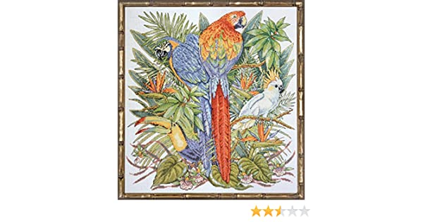 """Design Works  Birds of Paradise 16/"""" x 17/"""" Counted Cross Stitch Kit NEW Colorful!"""