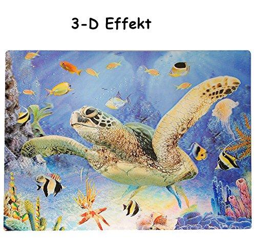 alles-meine.de GmbH 3-D Effekt __ Unterlage -  Meeres Schildkröte  - als Tischunterlage /...
