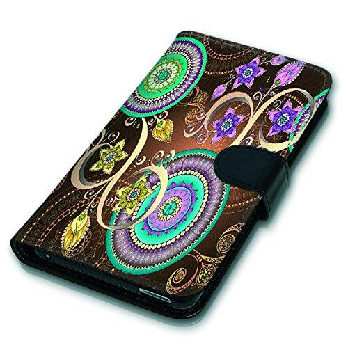 Wallet Book Style Flip Handy Tasche Case Schutz Hülle Schale Motiv Etui für Apple iPhone 4 / 4S - Variante UMV12 Design12 Design 1