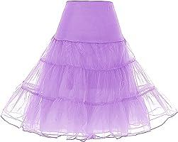 Dresstells 1950 Petticoat Reifrock Unterrock Petticoat Underskirt Crinoline für Rockabilly Kleid