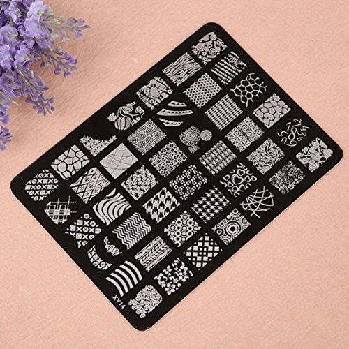 Tonsee Estamper impression plaque Image timbres plaque manucure Nail Art déco des ongles, XY14