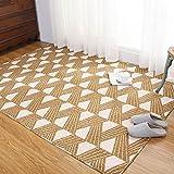 Unbekannt Fußmatten Tatami Überwürfe Sitzauflagen Braune Baumwolle Haushalt Tatami Krabbeldecke Maschine Waschbar Waschbar (Color : Brown, Size : 110 * 210cm)