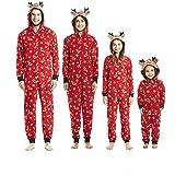 Pijamas una Pieza Familiares de Navidad, Conjuntos Navideños de Algodón Diseño de Rayas para Mujeres Hombres Niño Bebé, Ropa